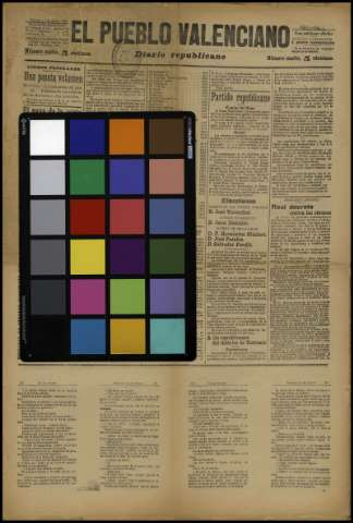 Carta de color - 1901