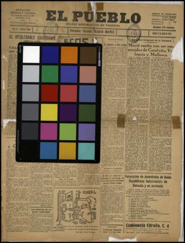 Carta de color - 1931
